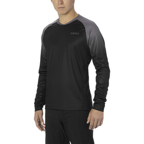 Giro Roust Longsleeve Jersey Heren, black/charcoal transition